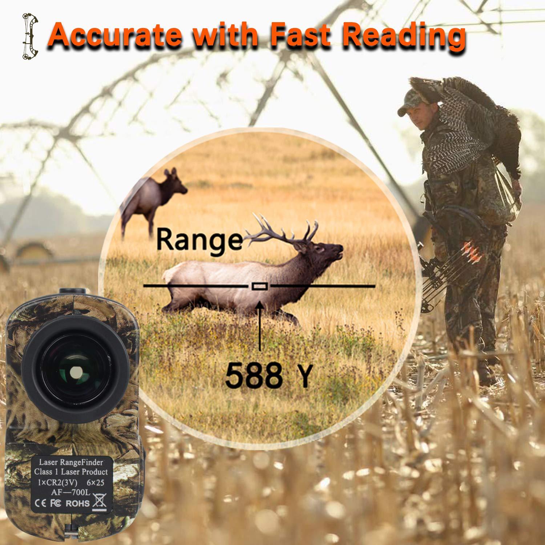 AOFAR Hunting Archery Range Finder-700 Yards Waterproof Laser Rangefinder for Bow Hunting
