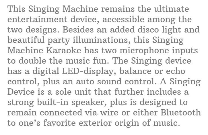 #1.Singing Machine SML385UW Bluetooth Karaoke System