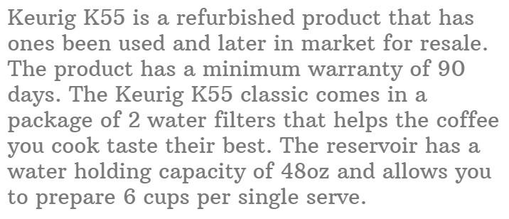 12. Keurig K55 K-Classic Coffee Maker