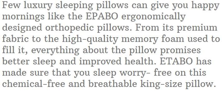 17. EPABO Contour Orthopedic Sleeping Pillows