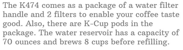 5. Keurig K475 Single Serve K-Cup Pod Coffee Maker
