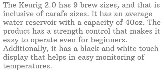 6. Keurig 2.0 Brewer Coffee Maker