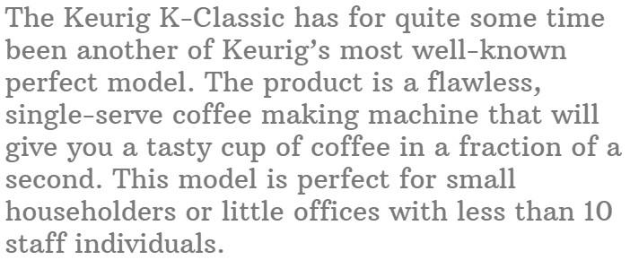 7. Keurig K Classic Coffee maker