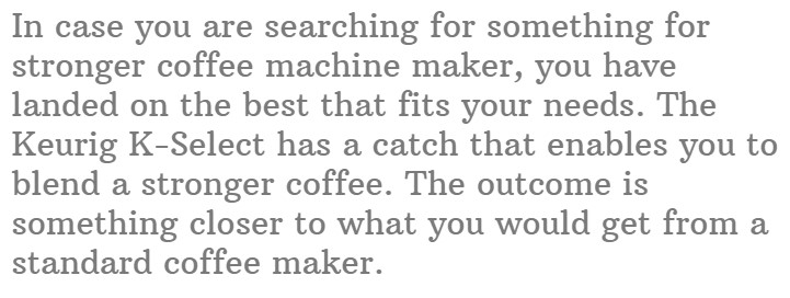8. Keurig K-Select Single Serve Coffee Maker