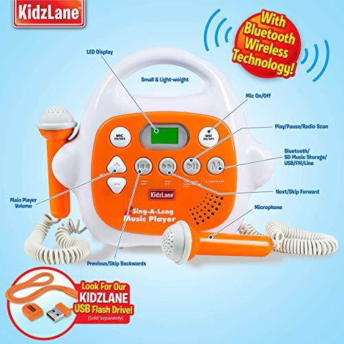 9. Kidzlane Kids Karaoke Machine with 2 Microphone