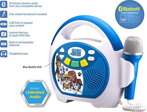 4. Paw Patrol Bluetooth Portable Karaoke System
