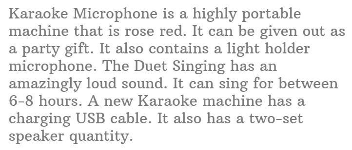 #12.Rhllxzo Wireless Duet Singing Karaoke Microphone for Kids