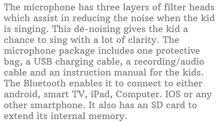 Get Detail On Amazon #15. Rhllxzo Bluetooth Kids Karaoke Machine