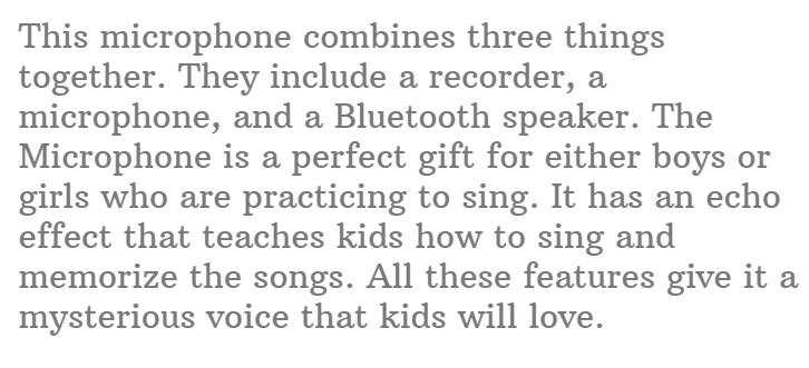 #16.UVUXZLW Microphone for Kids Karaoke