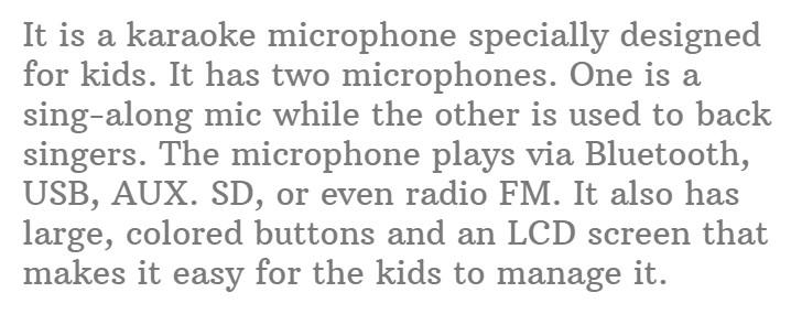 18. Little Pretender Kids Karaoke Machine