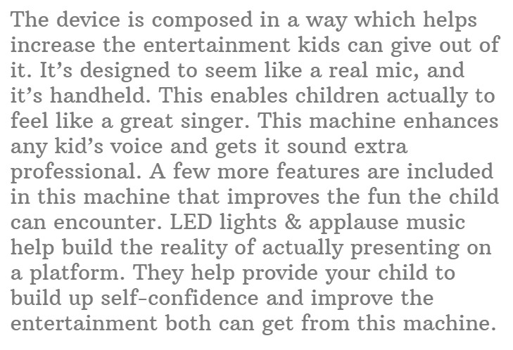#8. KOMVOX Kids Children's Bluetooth Karaoke Machine
