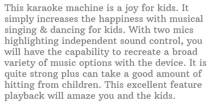 #9. Kidzlane Kids Karaoke Machine with 2 Microphone