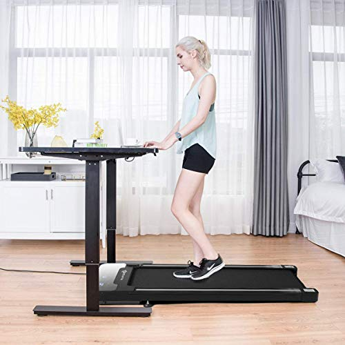 Goplus Under Desk Motorized Treadmill with Wireless Remote Control
