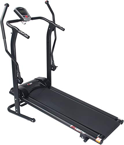 Merax Heavy Duty Treadmill with Large LCD Panel and Wide Shock-Absorbing Running Board