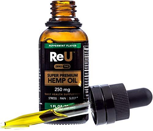 8. ReU Hemp Premium Hemp Oil Herbal Supplement Drops