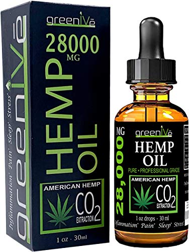 7. Greenive Hemp Oil for Pain, Stress and Inflammation
