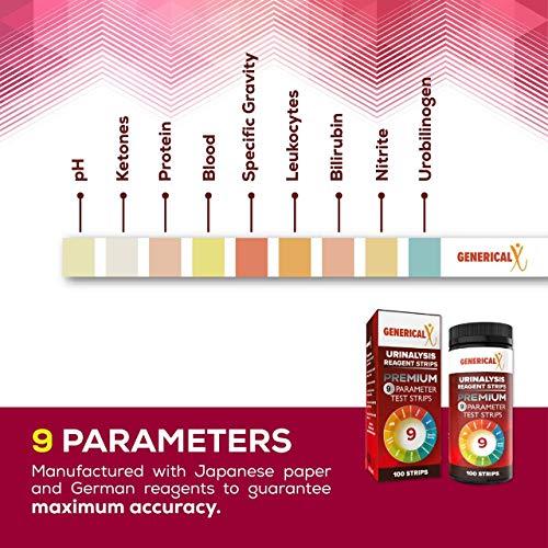 Generical X 9 Parameter Premium Urinalysis Test Strips for UTI
