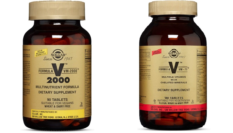 Solgar VM2000 and VM75 Multivitamins
